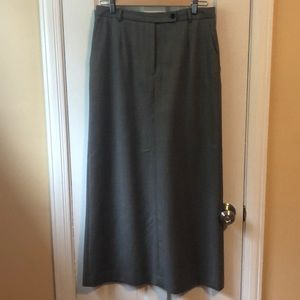 Long herringbone straight skirt